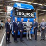 Рекордно быстрое достижение юбилейной отметки 100-тысячный новый грузовик DAF в сериях CF и XF